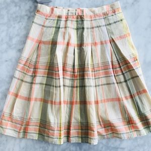 Skirt Talbots Plaid 4 Petite Yellow Peach Midi